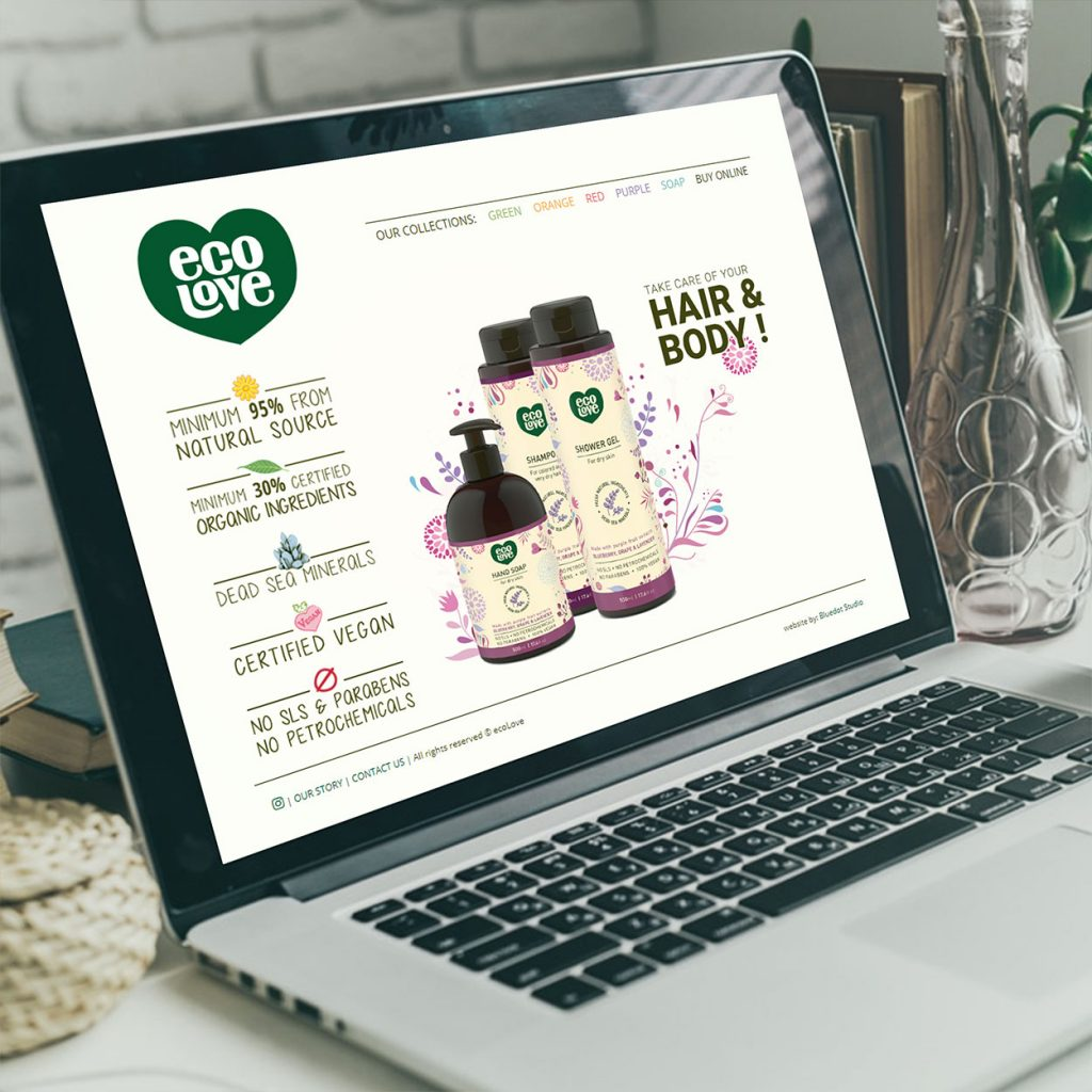 עיצוב אתר אינטרנט, מוצרי טיפוח, יופי