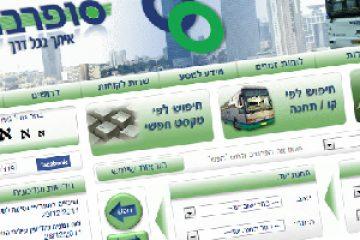 אתרי האינטרנט של התחבורה הציבורית בישראל